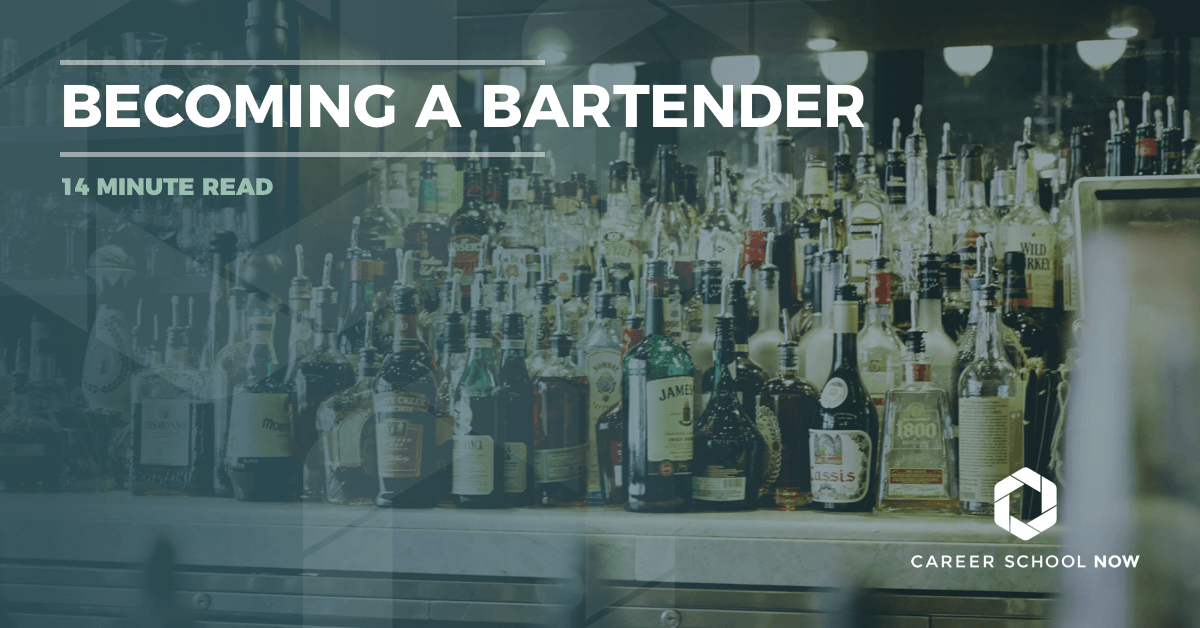How to become a bartender--career and training information 2018