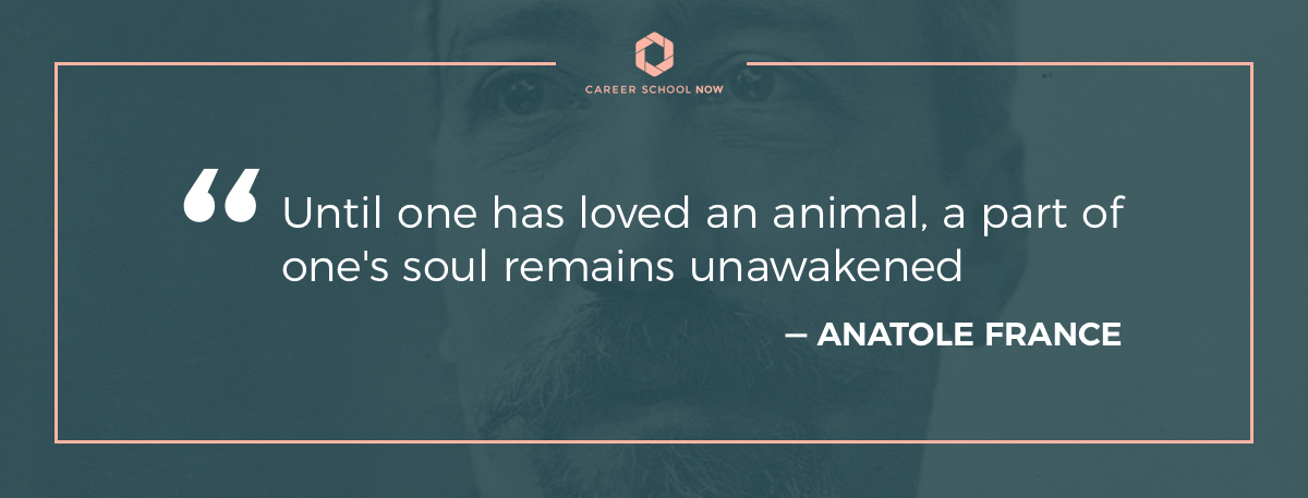 Anatole France quote-How to become a vet tech