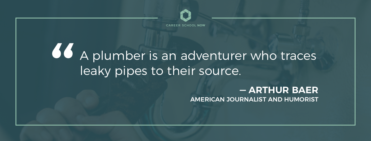 Arthur Baer quote-Learn how to become a plumber article