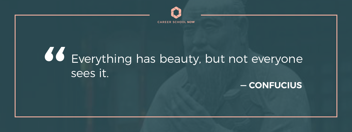 Confucius quote on article about how to start a career in cosmetology