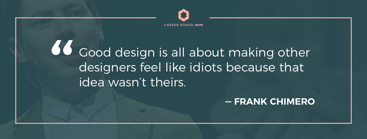 Frank Chimero quote on article about working as a graphic designer