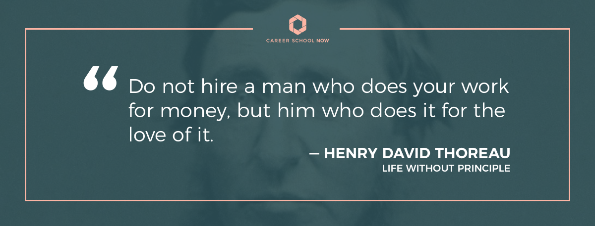 henry david thoreau quote-how to get into human resource managment