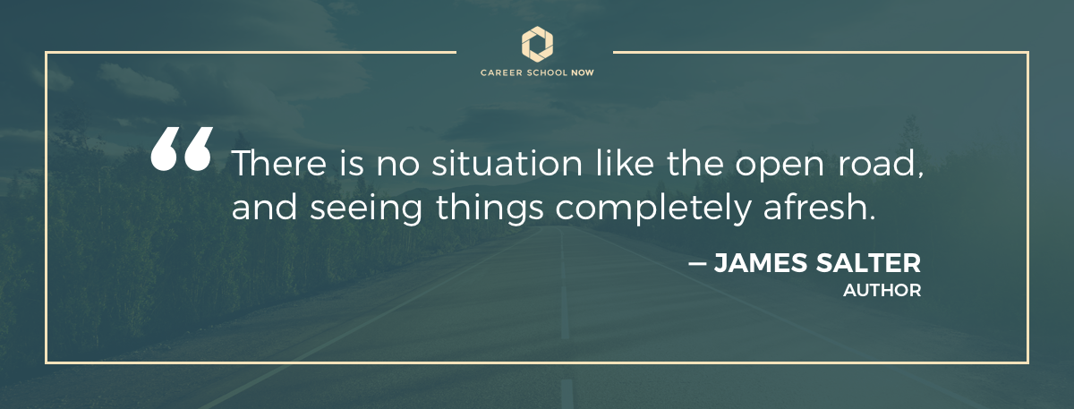 James Salter quote about trucking
