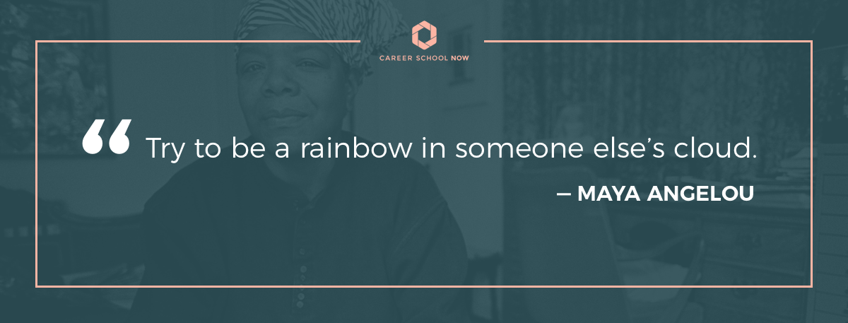 Maya Angelou quote on article how to become a pharmacist