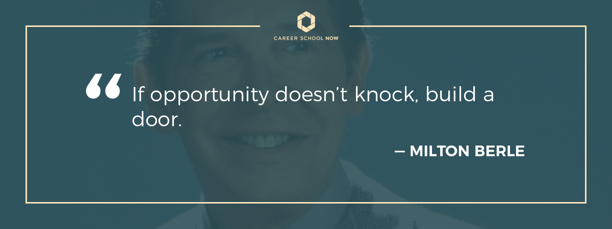 Milton Berle quote on article about learning to become a carpenter