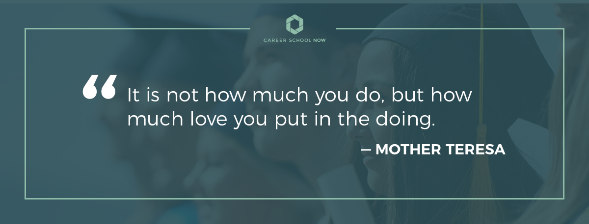 mother teresa quote become a nurse practitioner