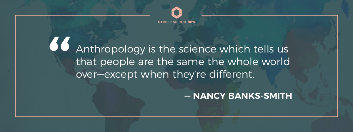 Nancy Banks-Smith quote-Career in anthropology