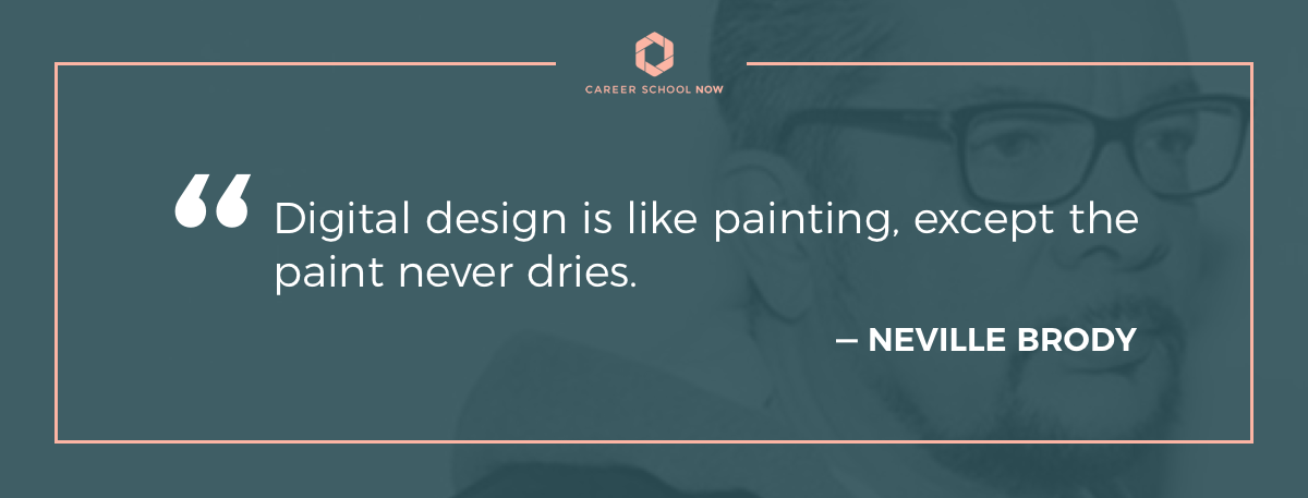 Neville Brody quote on article about graphic design careers