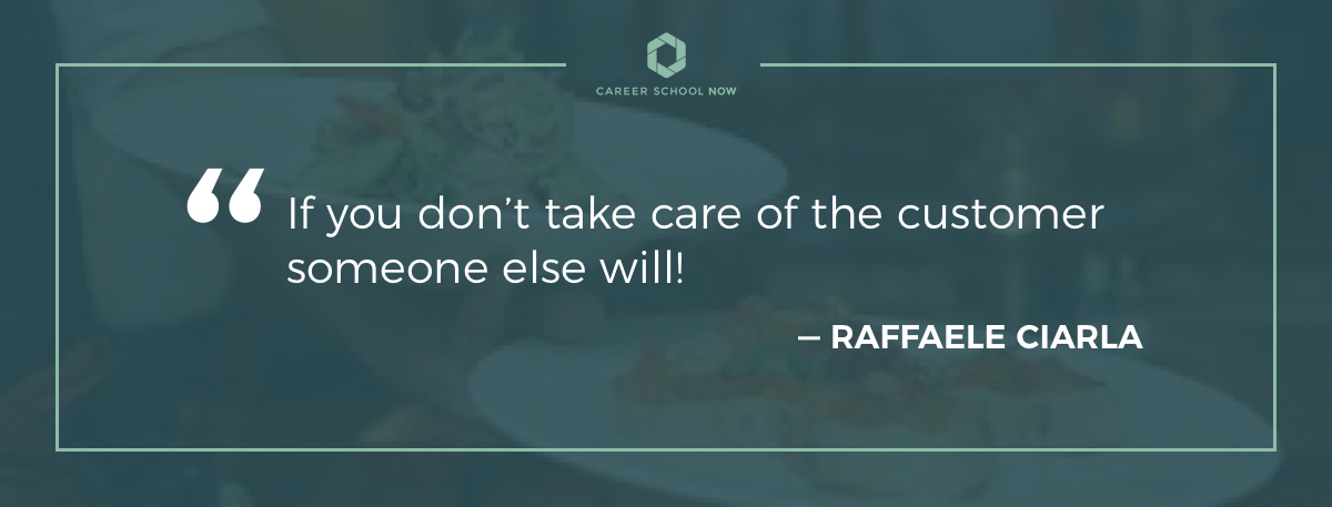 Raffaele Ciarla quote-Become a restaurant manager career information article