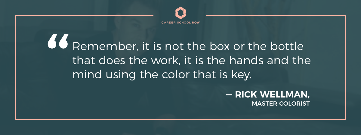 Rick Wellman quote on article about cosmetology career information