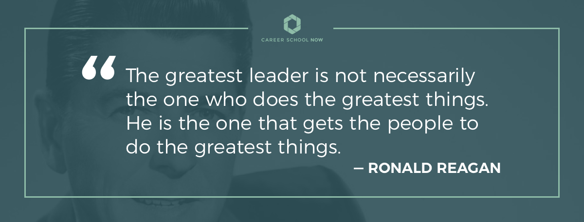 Ronald Reagan quote--How to become a restaurant manager article
