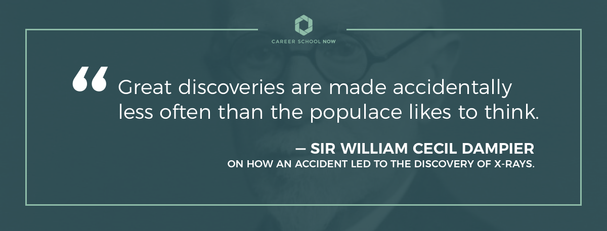 Sir William Cecil Dampier on the accidental discovery of xrays