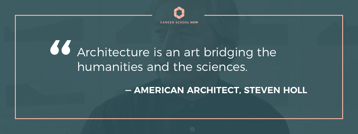 Steven Holl quote-Start a career in architecture