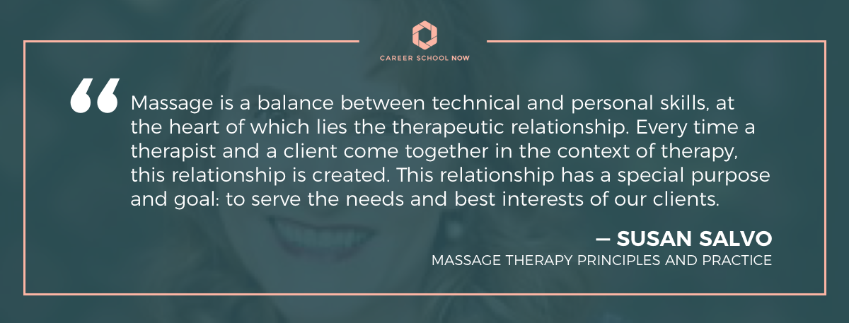 Susan Salvo quote on massage therapy