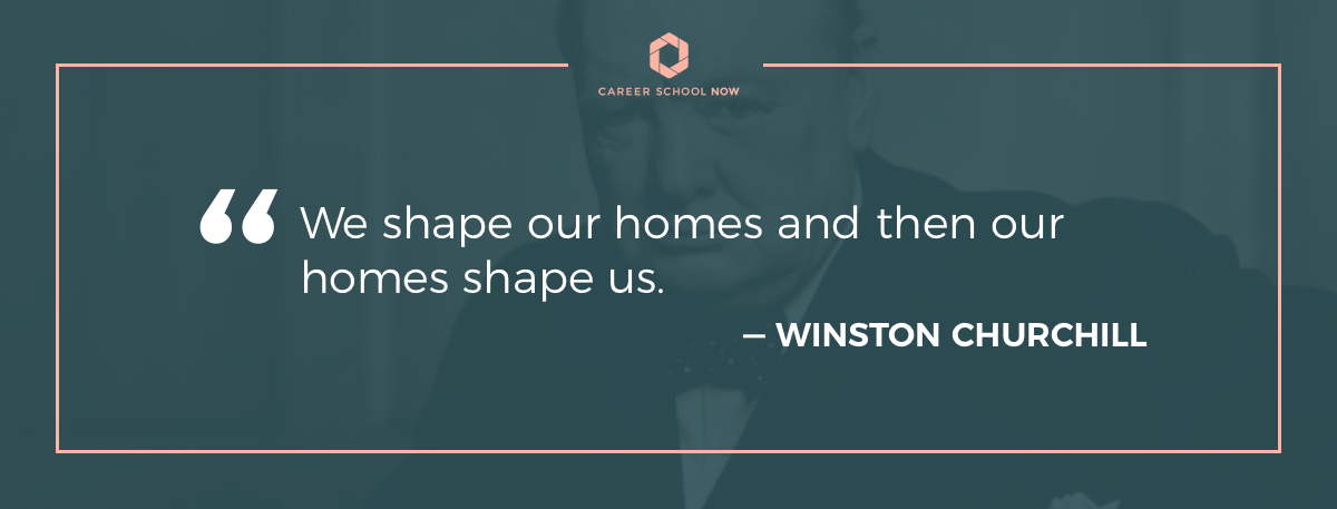 winston churchill quote-learn how to become an interior designer